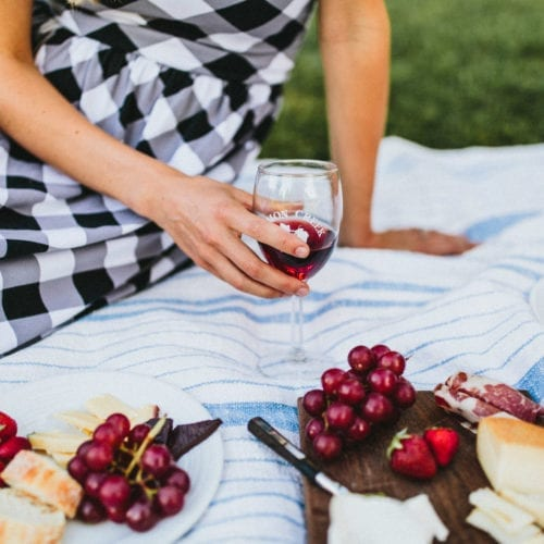 A lovely picnic at Lemon Creek Winery on the Lake Michigan Shore Wine Trail.